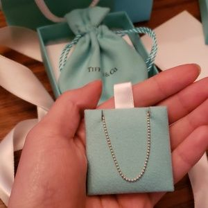 Tiffany & co beaded chain necklace
